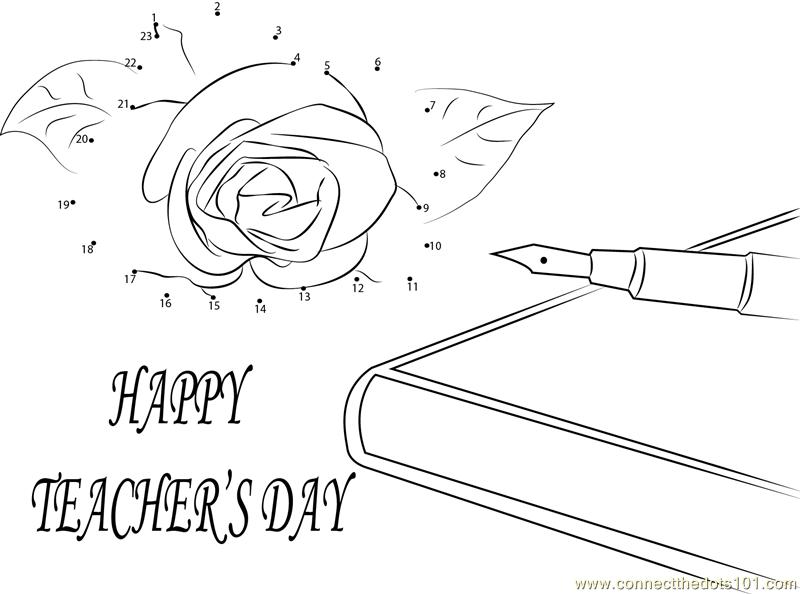 Wishing U Happy Teachers Day dot to dot printable