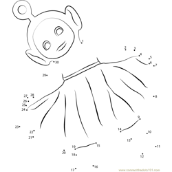Teletubbies Connect The Dots printable worksheets