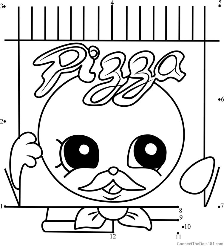 Pa' Pizza Shopkins dot to dot printable worksheet