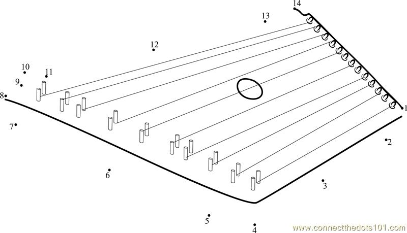 Connect the Dots Lap Harp (Musical Instruments > Harp