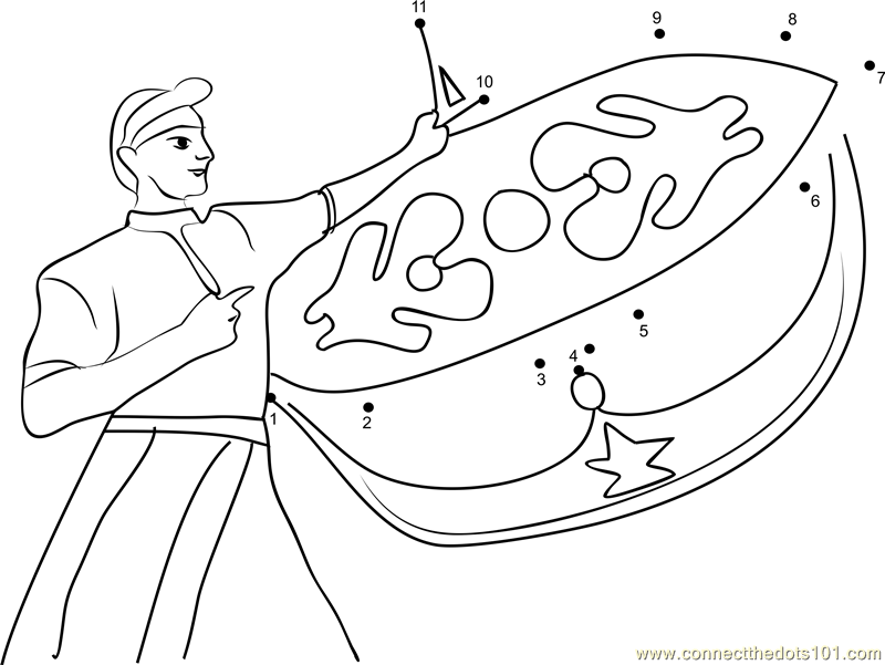 Wau Picture Colouring Pages
