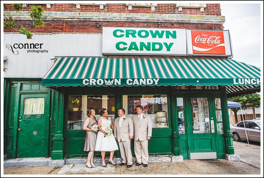 Crown Candy Kitchen  Piper Palm House St Louis Wedding