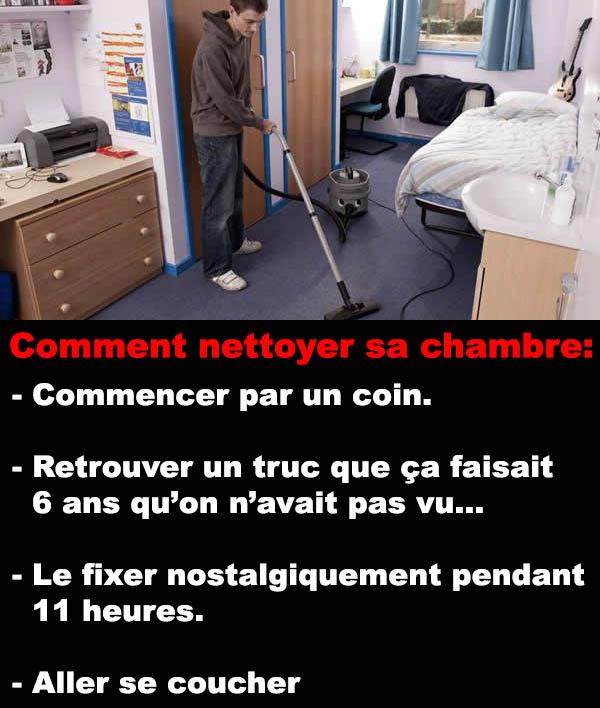 Nettoyer sa chambre  ConneriesQc