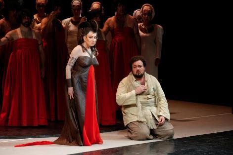 Stefan Pop con Mariella Devia in Norma alla Fenice di Venezia - Photo credit: Michele Crosera