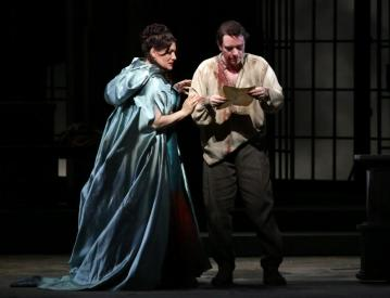 Saioa Hernández con Francesco Meli in Tosca alla Scala - Photo credit: Brescia e Amisano