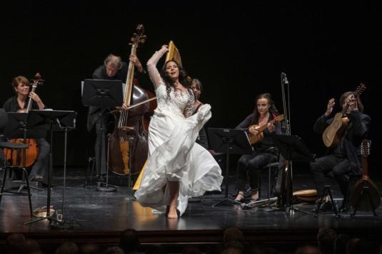 Sonya Yoncheva con l'ensemble Cappella Mediterranea in concerto al Festival di Salisburgo - Photo credit: Marco-Borrelli