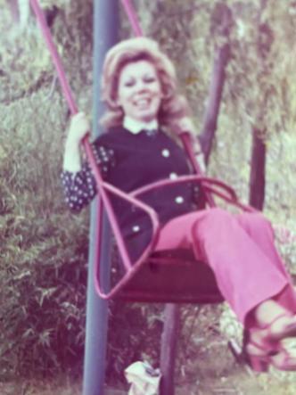 Una foto privata di Mirella Freni