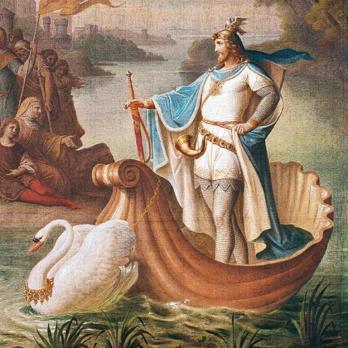 August von Heckel, L'arrivo di Lohengrin