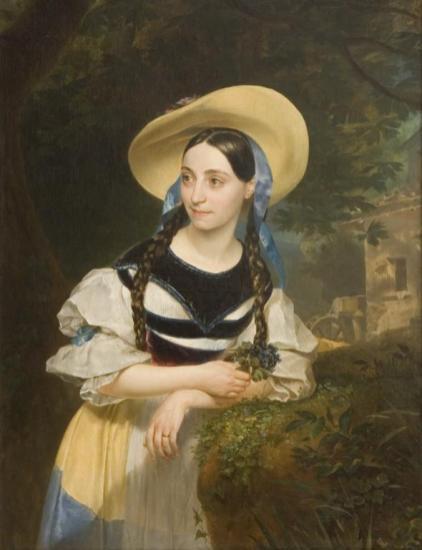 Karl Pavlovič Brjullov, Ritratto di Fanny Tacchinardi Persiani, 1834 (Accademia di belle arti di San Pietroburgo)