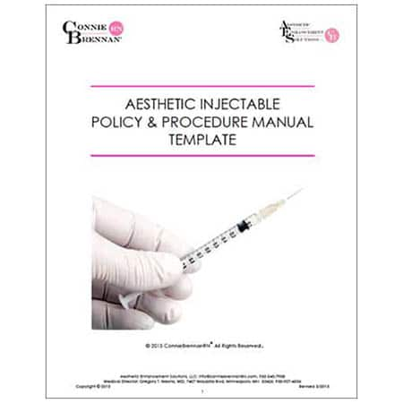 AESTHETIC INJECTABLE POLICY & PROCEDURE MANUAL TEMPLATE