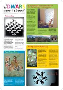 dwars 167 kinderpagina over m.c. escher in het tropenmuseum