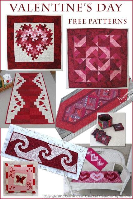 Valentines Day Free Quilt Tutorials And Patterns
