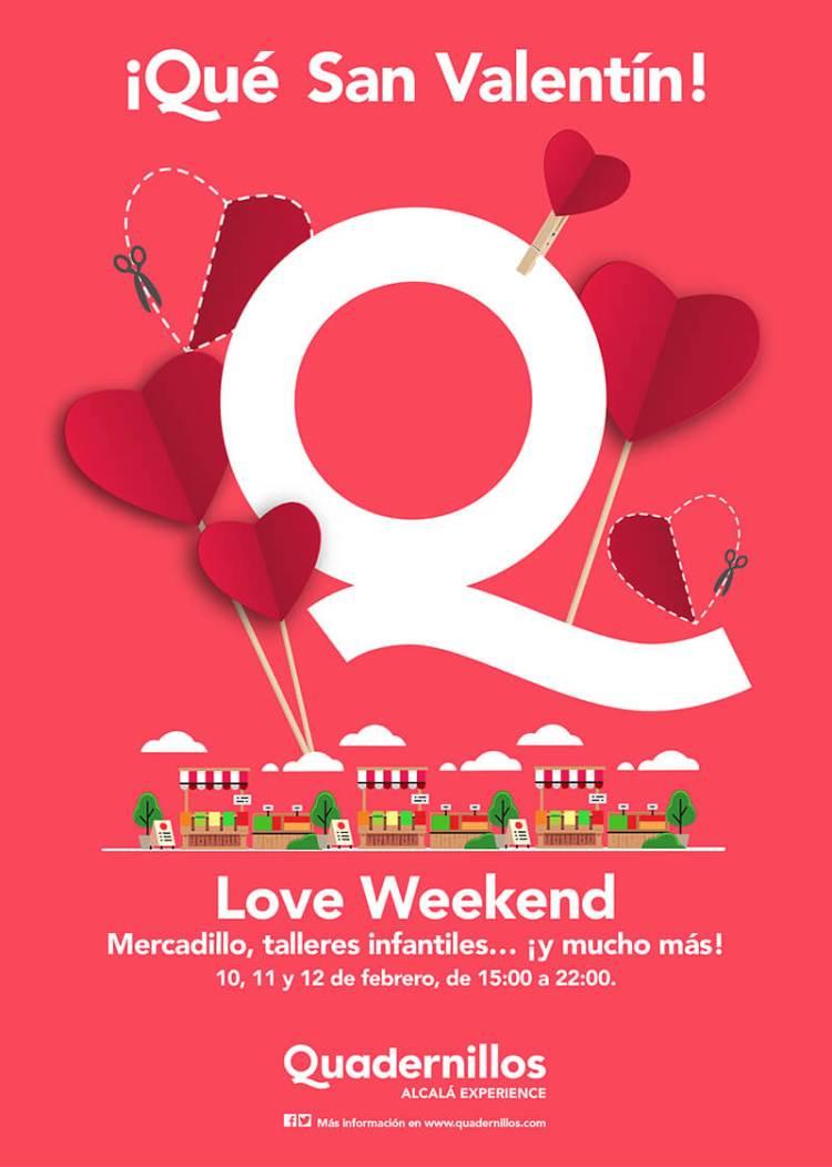 """Talleres para San Valentín """"Love Weekend"""" Quadernillos"""