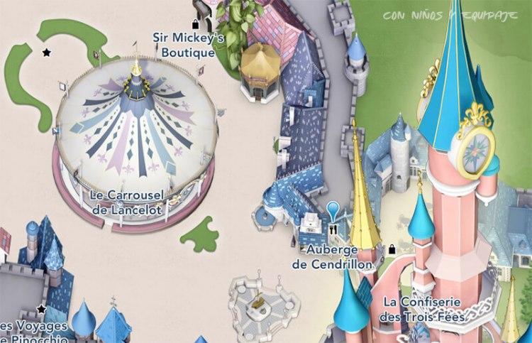 donde esta la carroza de Cenicienta en Disneyland París