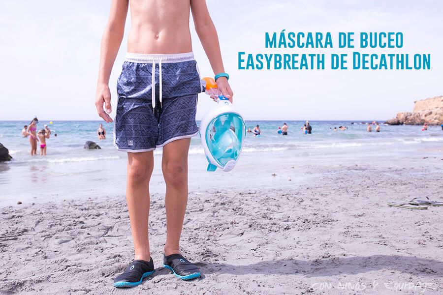 Máscara de buceo Easybreath de Decathlon