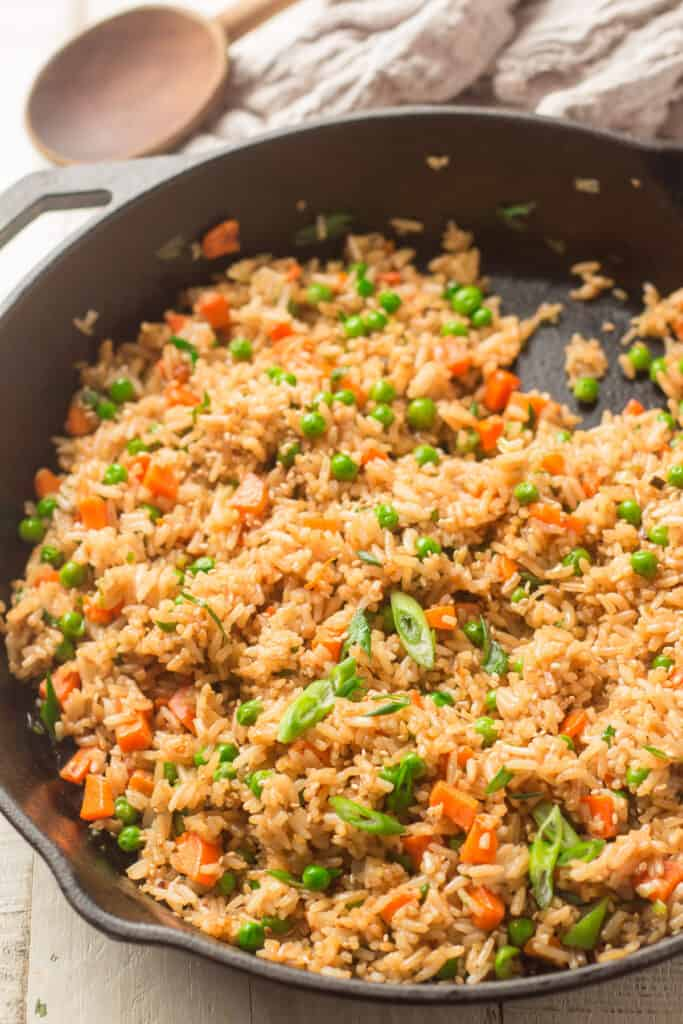 Vegan Fried Rice in a Skillet