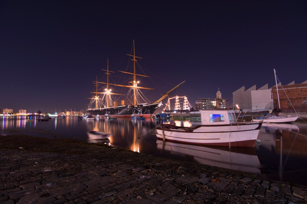 Hms Warrior Portsmouth Night Photography 1024x682 Portfolio