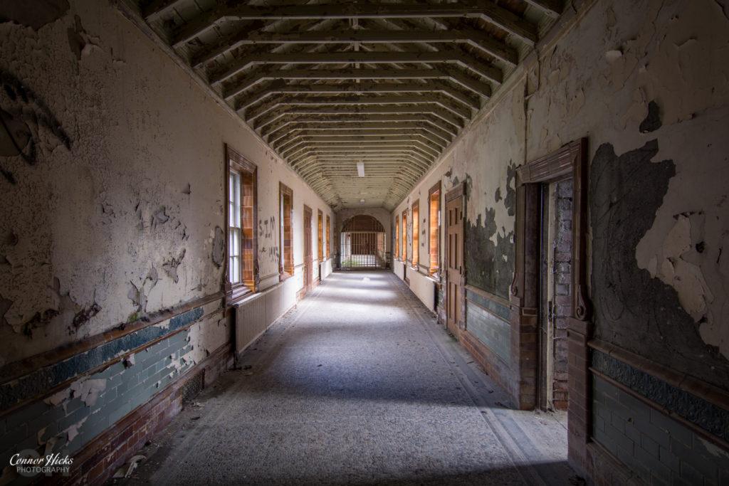High Royds Asylum Corridor 1024x683 High Royds Asylum, Leeds