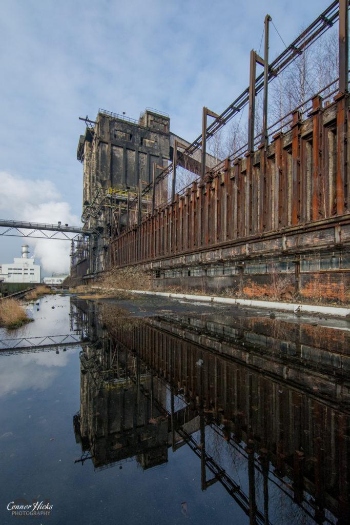 reflection urbex belgium coke works 683x1024 Coke Works, Belgium