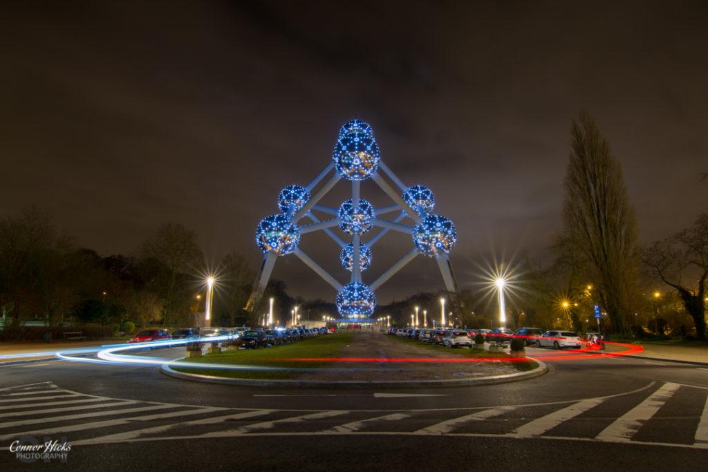 Brussels Atonium At Night 1024x683 Travel