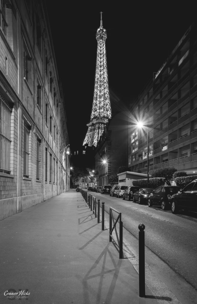 Paris Eiffel Tower Night BNW 666x1024 Travel