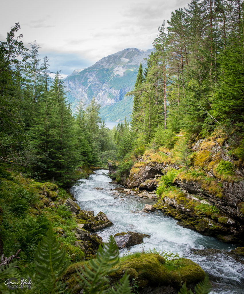 hidden waterfall geiranger 851x1024 Travel