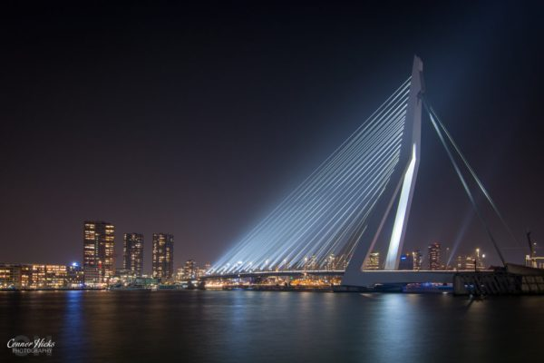 night photography rotterdam Erasmusbrug 1024x683 Travel