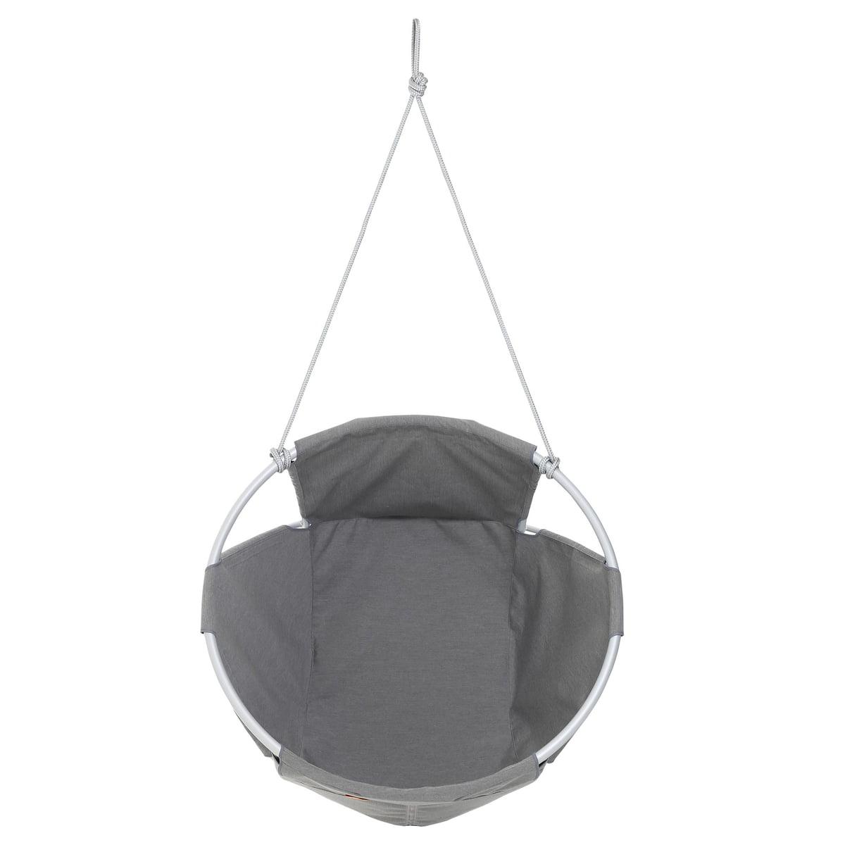 hanging chair cocoon blue rocking outdoor hang by trimm copenhagen