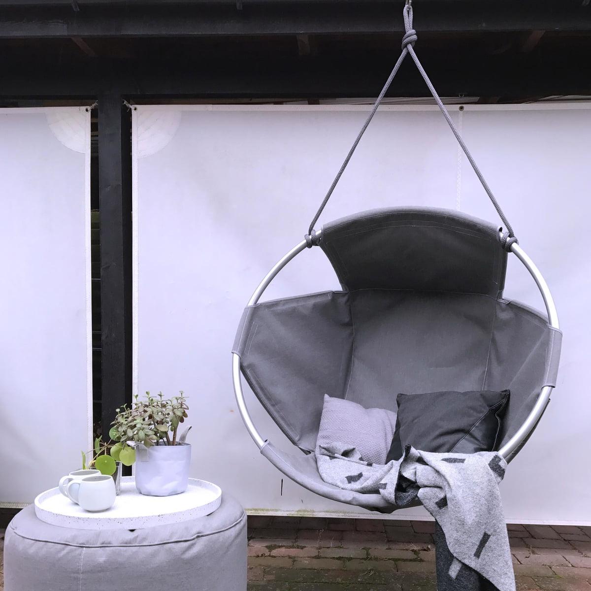hanging chair cocoon zero gravity recliner garden outdoor hang by trimm copenhagen