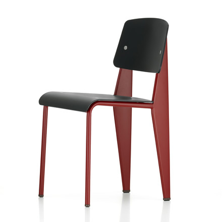 chair felt pads armless accent the prouvé standard sp by vitra