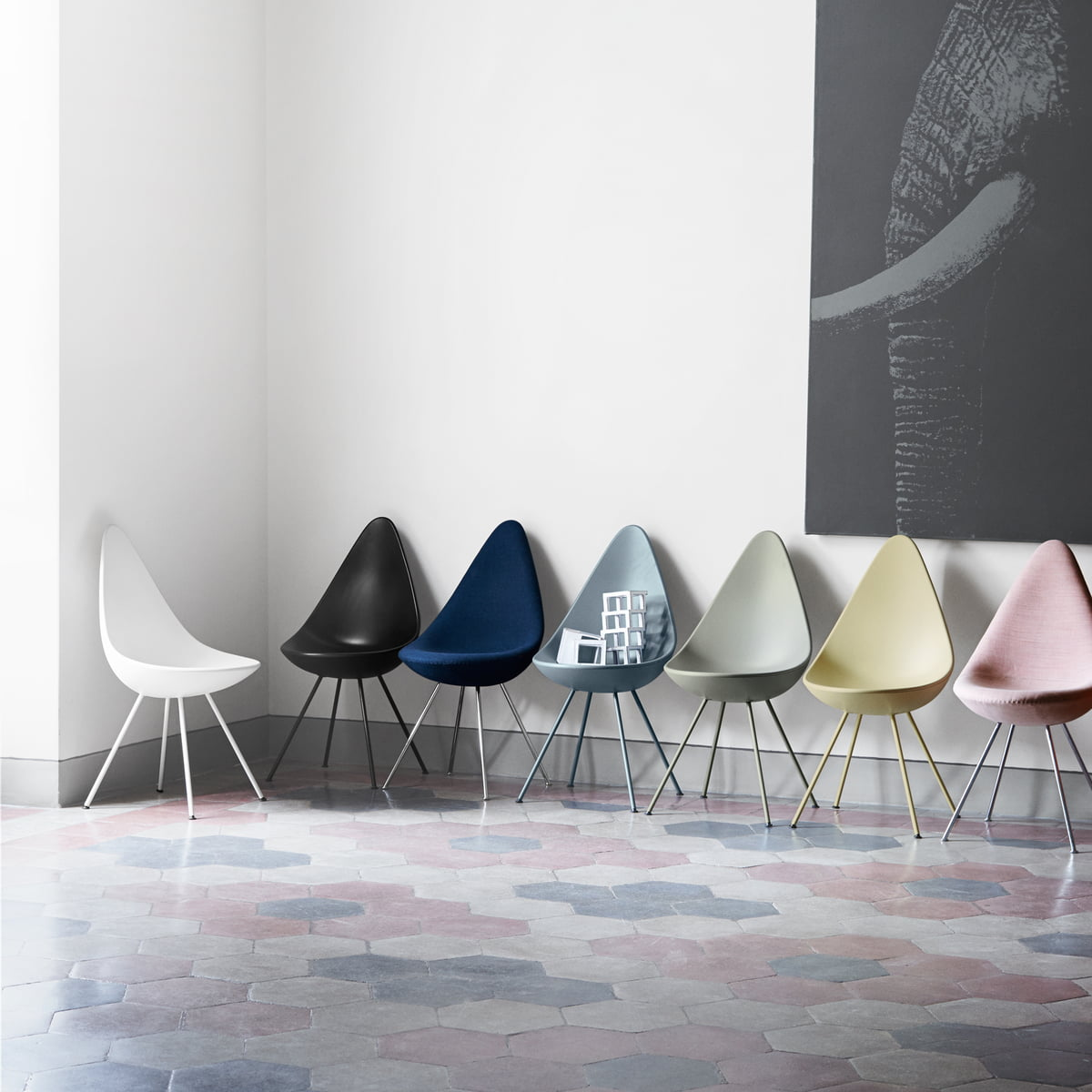 The Drop Chair by Fritz Hansen in the shop