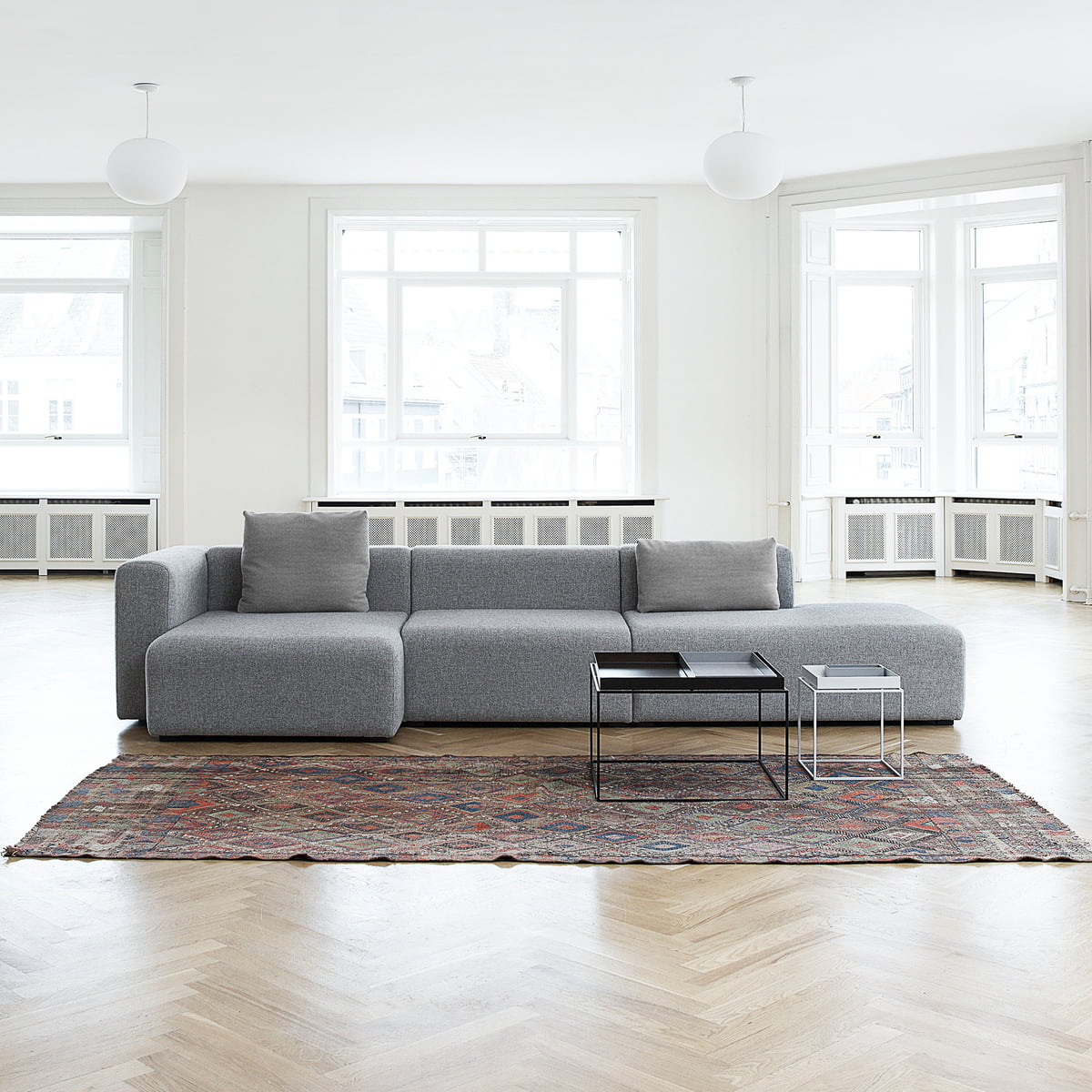 wide sofas cheap sofa bed sets mags modules by hay
