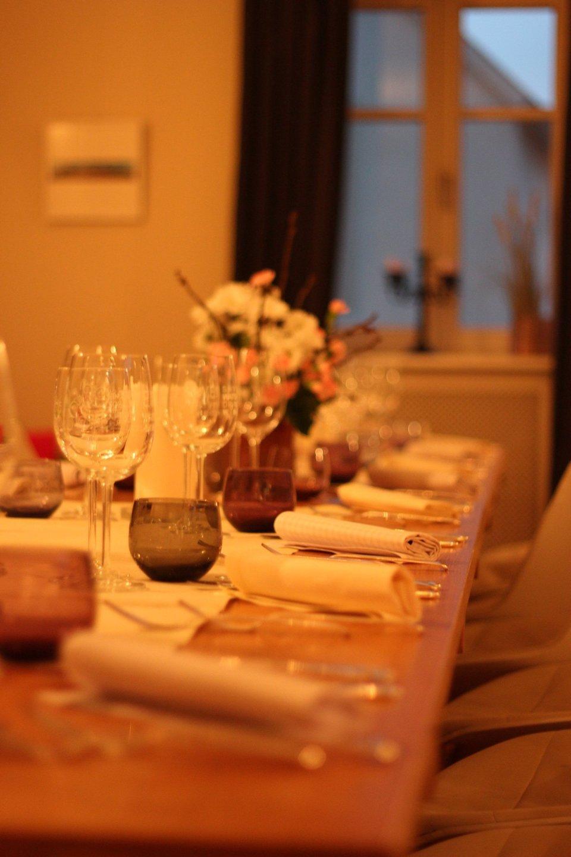 Die Tafel fürs Abendessen...