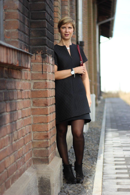 kleine Schwarze, festlich, Kleid, Little black dress, conny doll, Strumpfhose, bataillon belette, Festtagsoutfit