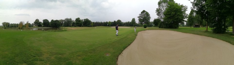 Golfclub Sagmühle, Conny Doll spielt Golf, Panoramabild