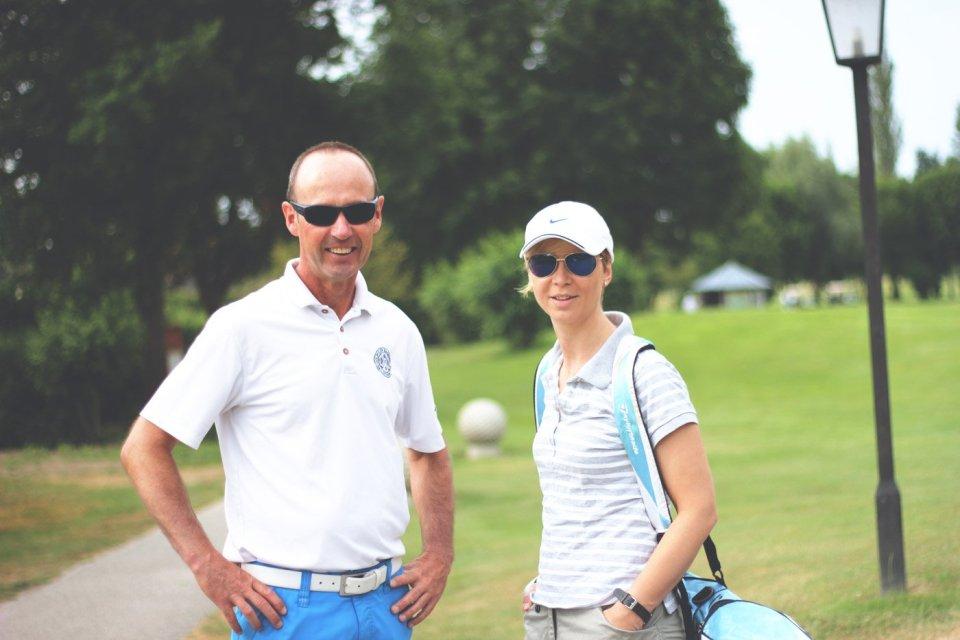 Golfclub Sagmühle, Conny Doll spielt Golf, mit Mathias Probst