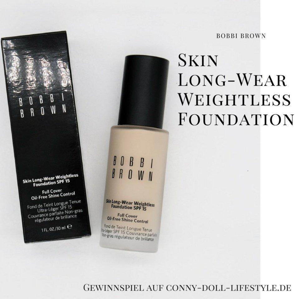 Conny-Doll-Lifestyle: Blog, Geburtstag, Bobbi Brown, Gewinnspiel, Skin long-wear weightless foundation,