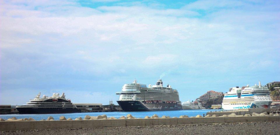 conny doll lifestyle: Kreuzfahrtschiffe im Hafen von Funchal, Aida, Mein Schiff, Schiffsreise, Landkrankheit, Seekrankheit,