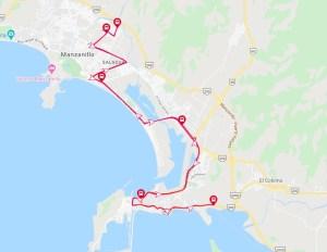 ruta 10A transporte en manzanillo