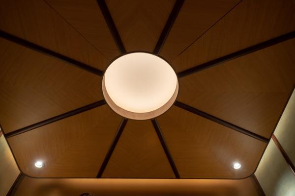 熱気球エレベーターの天井