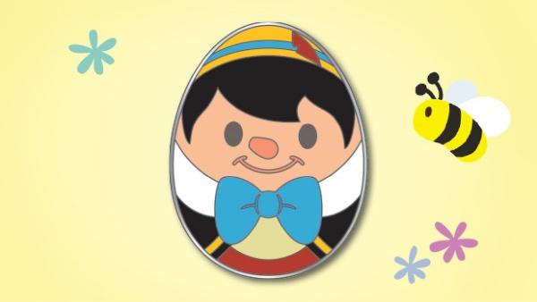 ピノキオのエッグピン