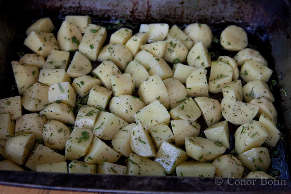 Rosemary and sage potatoes