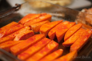 Sweet potatoes and paprika