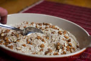 Chopped Almonds, Grated Coconut and Wheatgerm