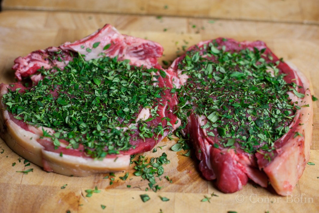 Thyme for the gratuitous meat shot. Geddit!