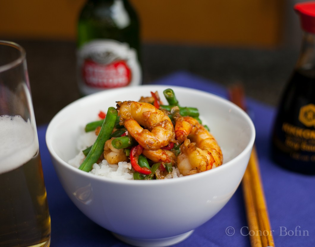 Prawn, honey, chili and green beans (17 of 17)