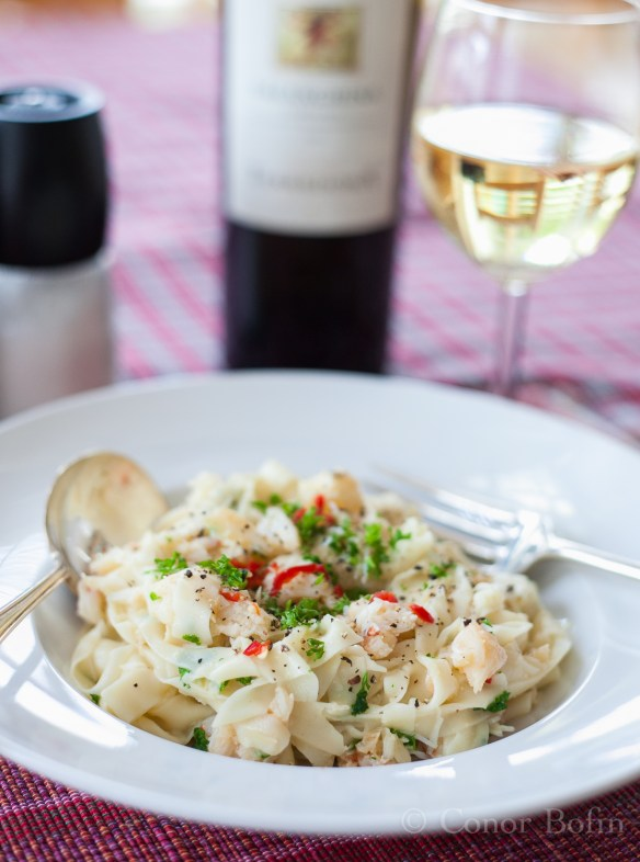 I am totally justified in promoting Irish crab and Italian wine in 'One Man's Meat'. You agree, don't you?