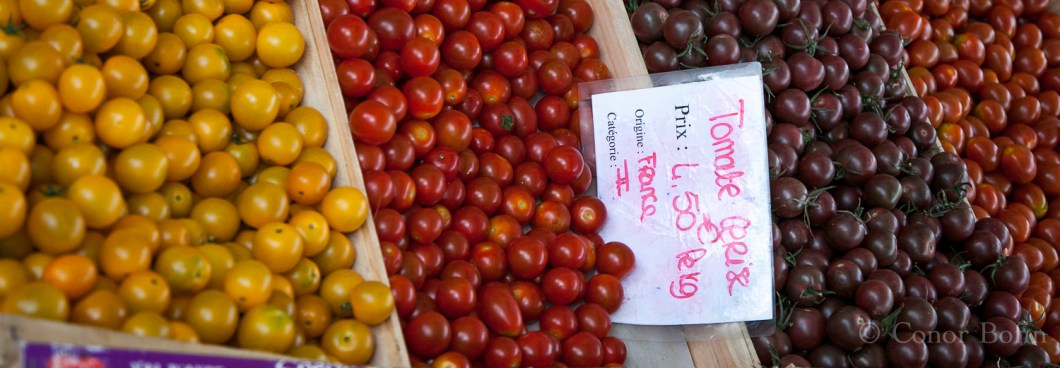 Tomatoes? But of course. What colour would you like?