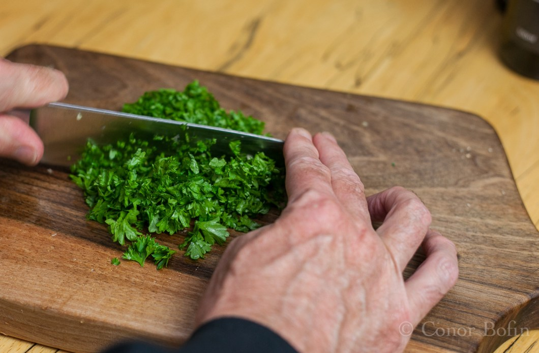 Don't be shy with the parsley. It adds taste, texture and colour.