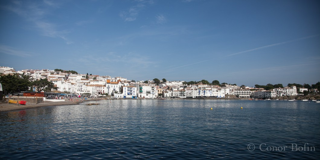 Beautiful Cadaqués. That's the paella pan shop there on the left.